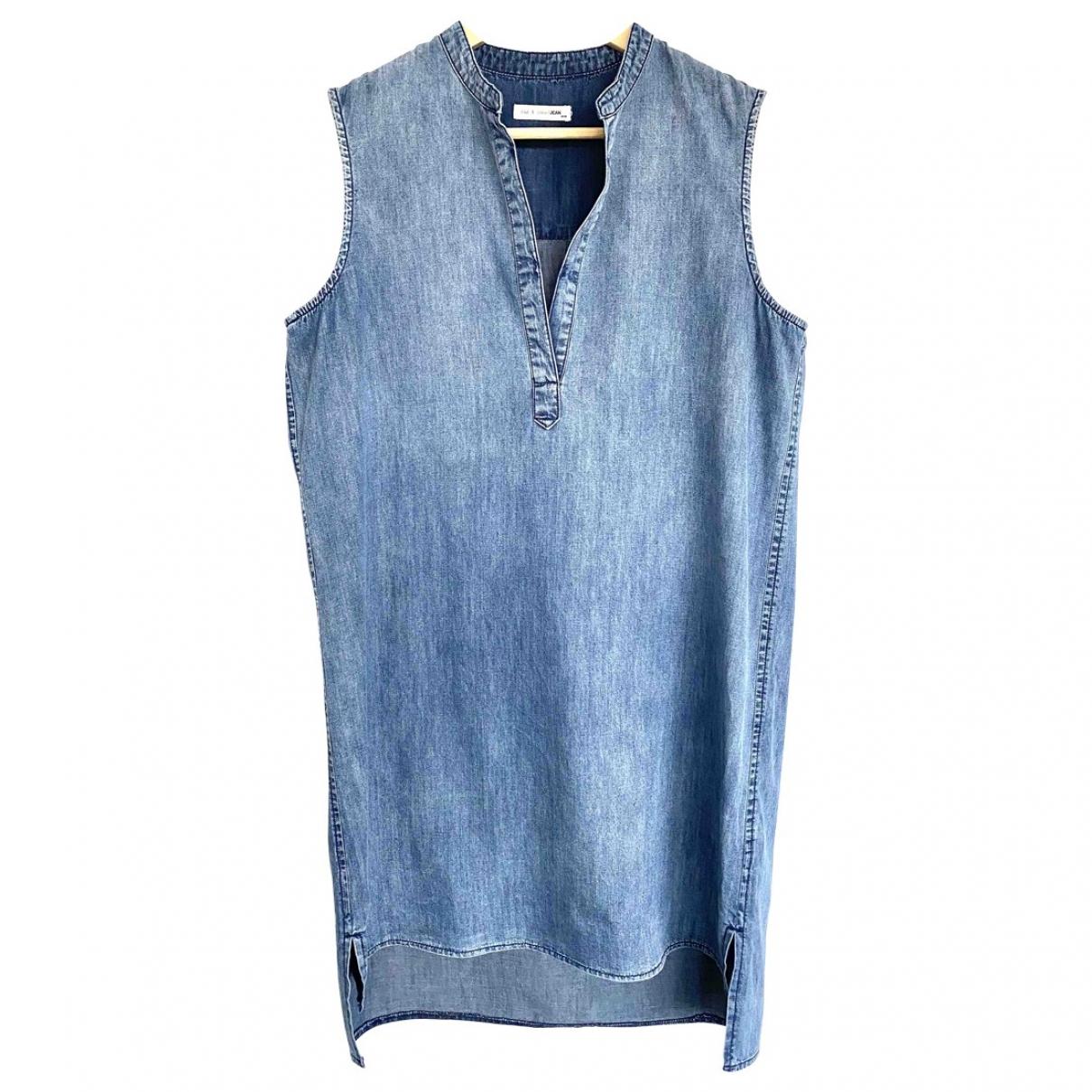 Rag & Bone \N Kleid in  Blau Baumwolle