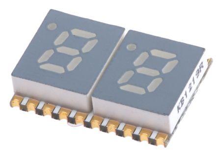 Kingbright KCDC02-105  2 Digit 7-Segment LED Display, CC Red 30 mcd RH DP 5.1mm (5)