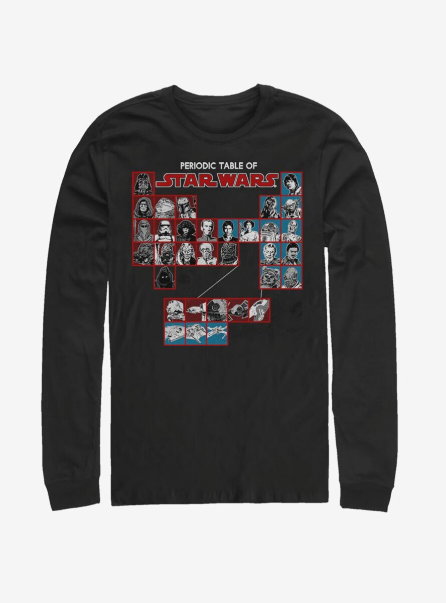 Star Wars Periodic Table Long-Sleeve T-Shirt