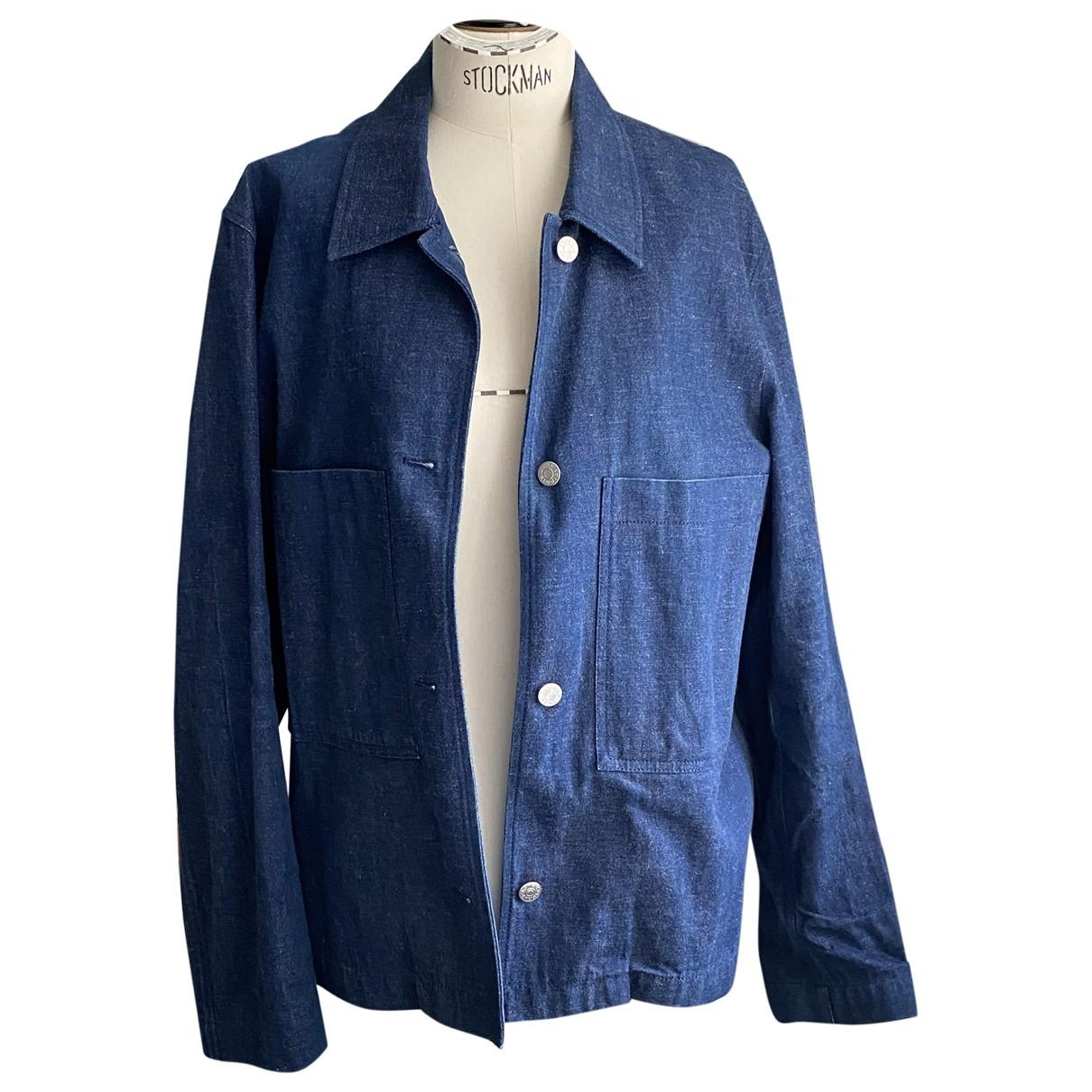 Acne Studios Blå Konst Blue Cotton jacket for Women 36 IT