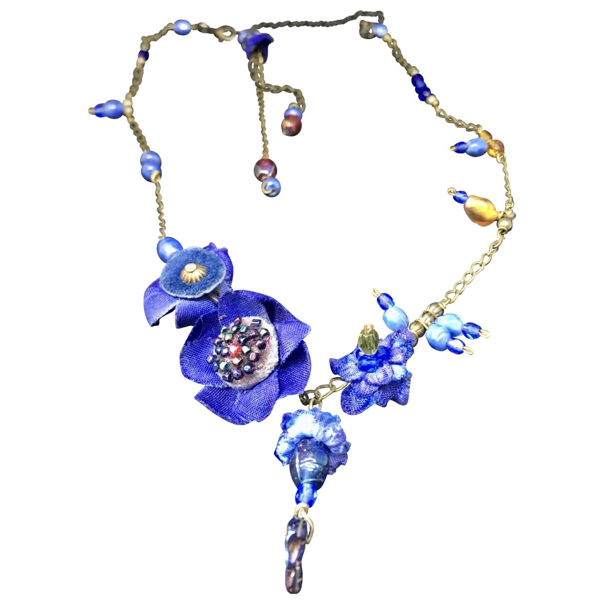 Les Néréides \N Blue Cloth necklace for Women \N