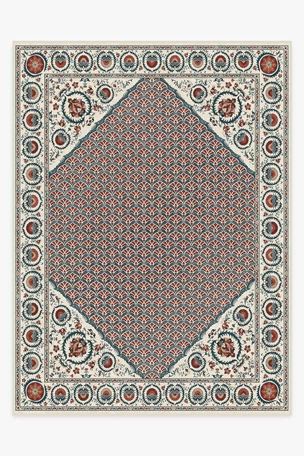 Washable Rug Cover | Samira Suzani Imari Rug | Stain-Resistant | Ruggable | 9x12