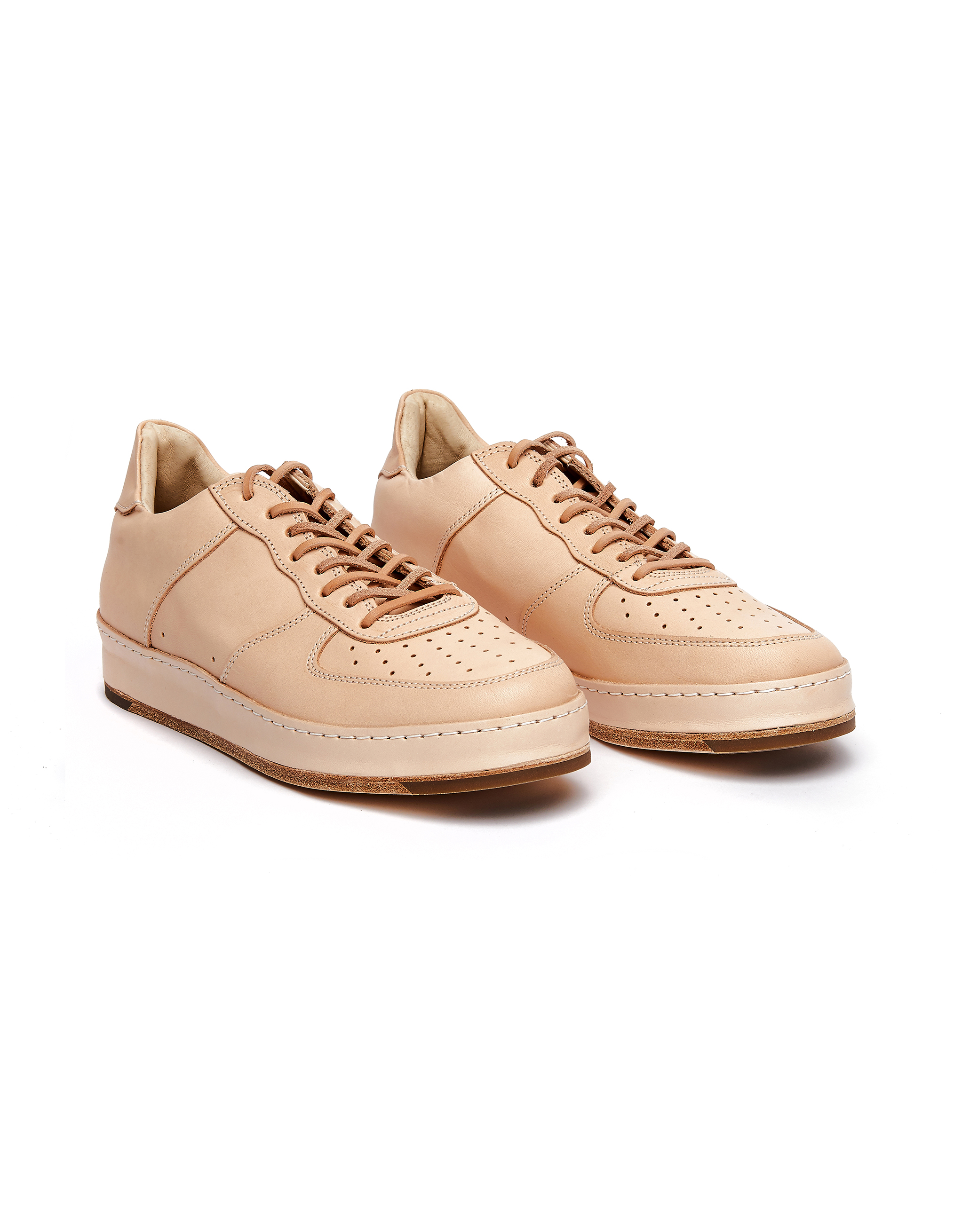 Hender Scheme Beige Leather MIP-22 Sneakers