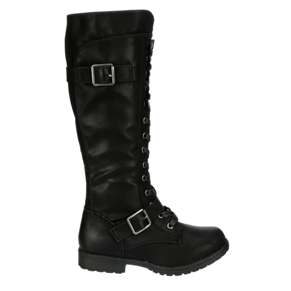 Sugar Womens Jewelz Tall Combat Boot