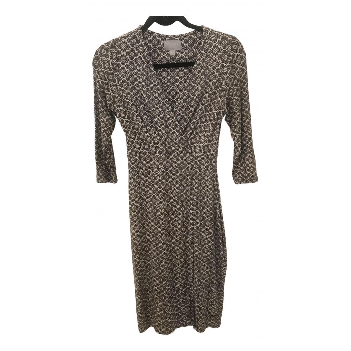 Pure Collection - Robe   pour femme en coton - gris