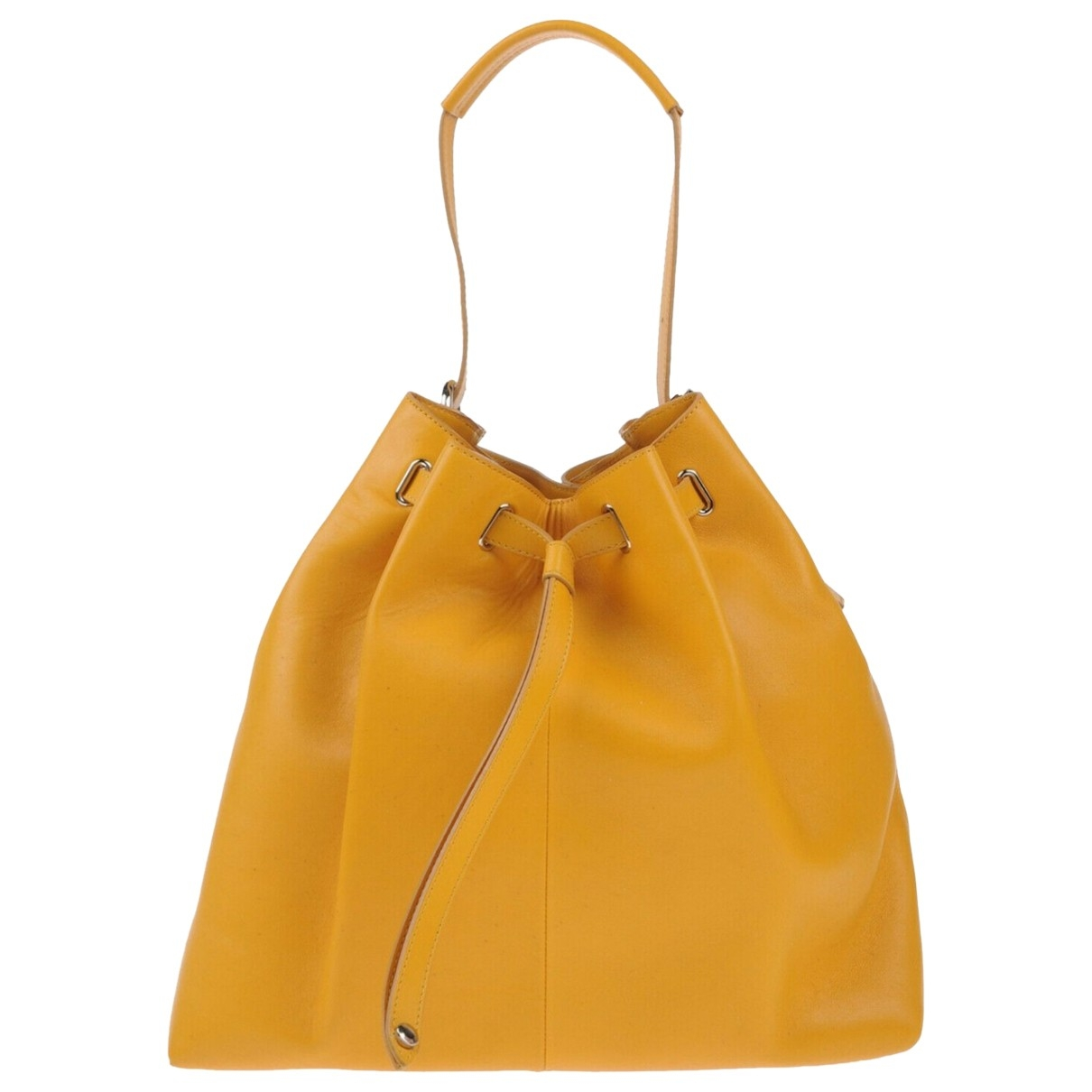 Orciani \N Yellow Leather handbag for Women \N