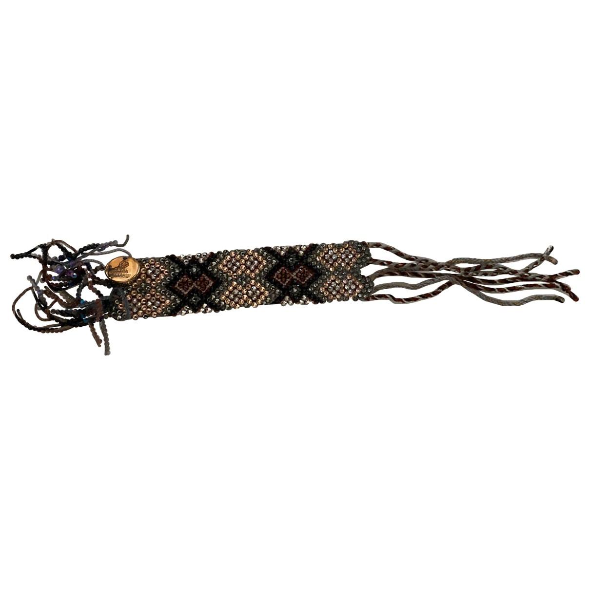 Silviatcherassi \N Armband in  Grau Leinen