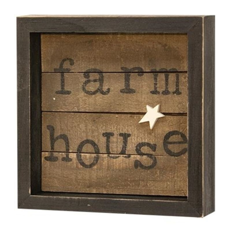 Farmhouse Slat Sign - Brown (Brown)