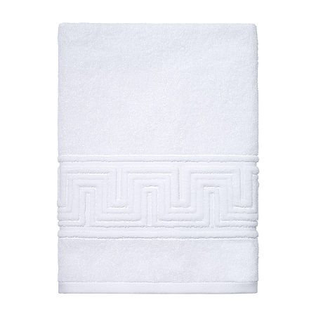 Now House By Jonathan Adler Gramercy Geometric Bath Towel, One Size , White