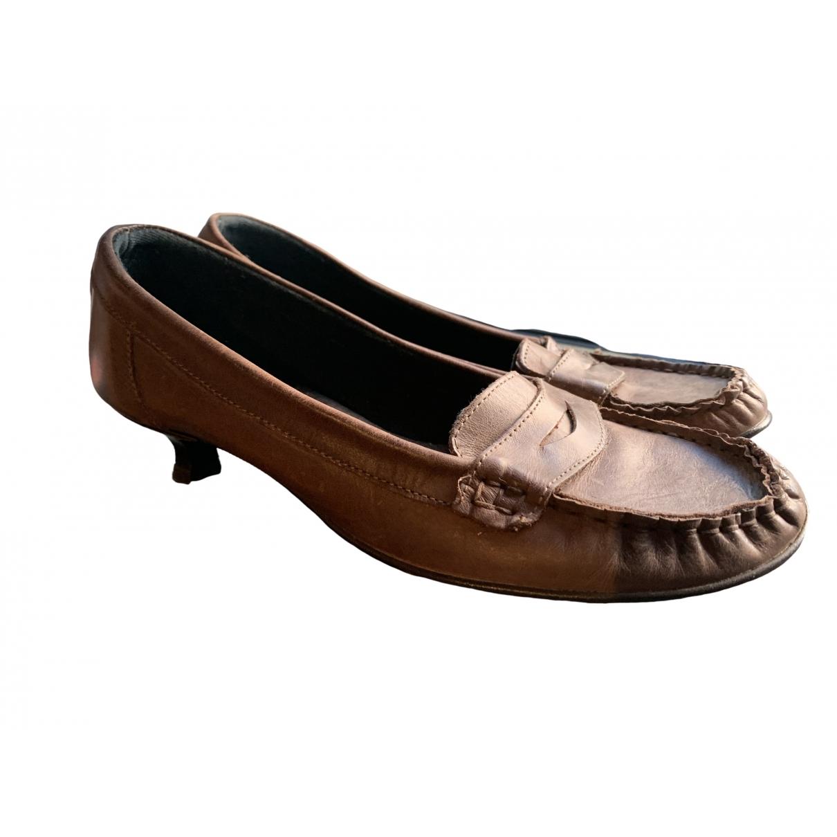La Mania \N Brown Leather Heels for Women 39 EU