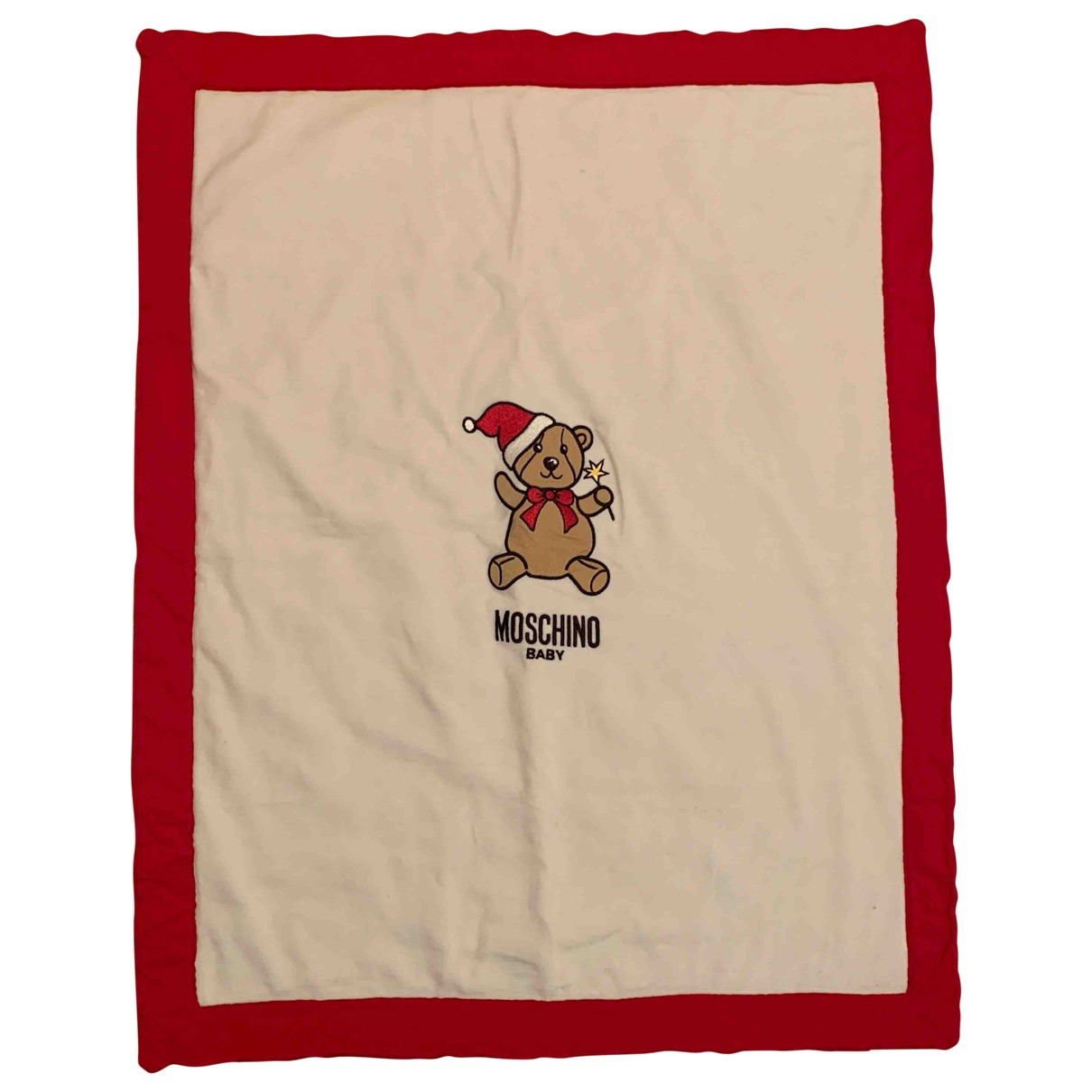 Moschino N White Cotton Textiles for Life & Living N