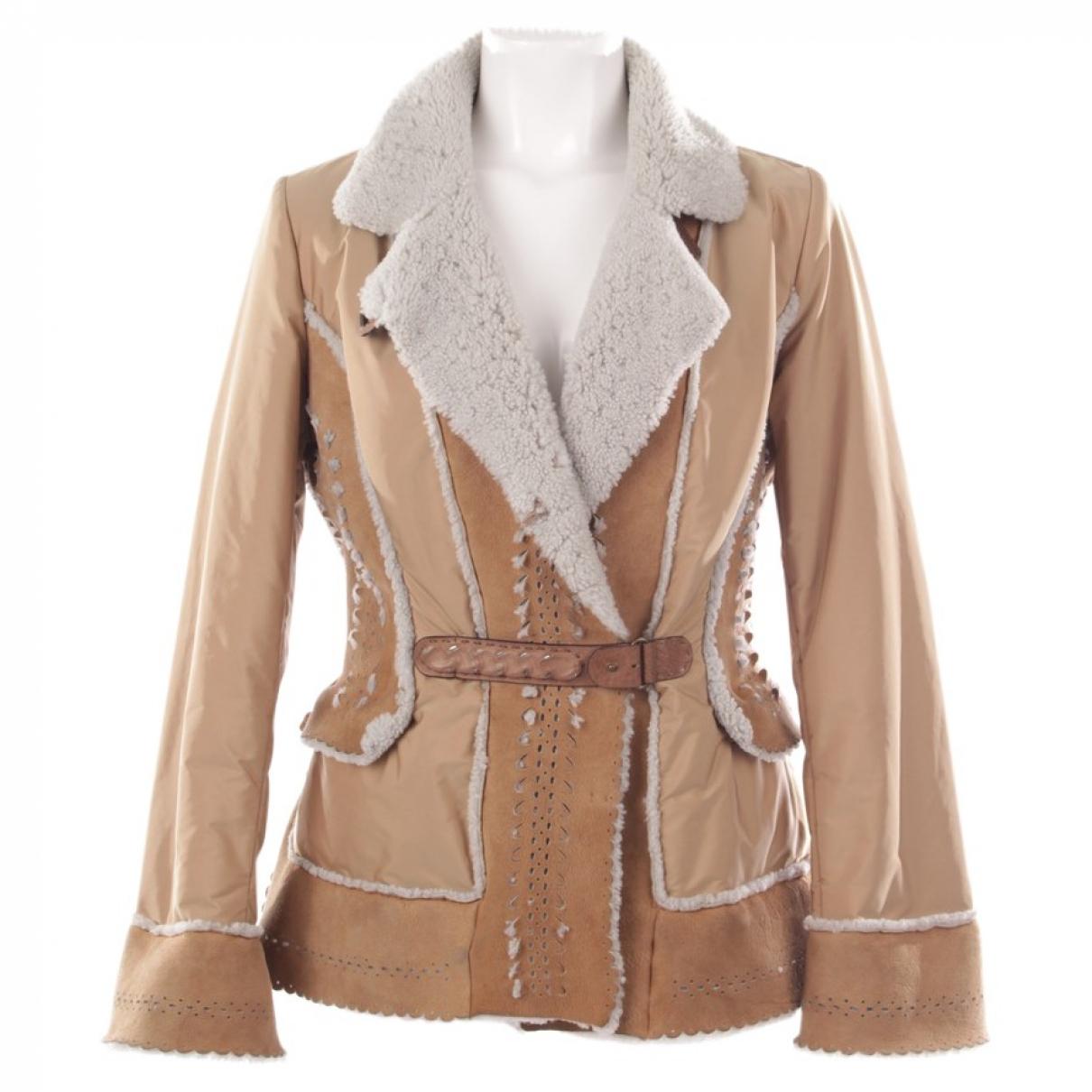 Ermanno Scervino - Veste   pour femme en cuir - beige