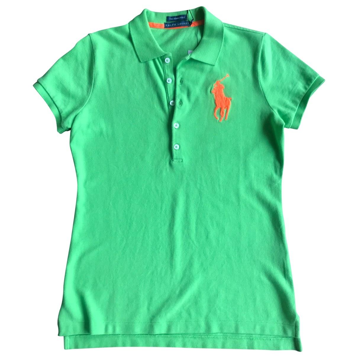 Polo Ralph Lauren \N Top in  Gruen Baumwolle