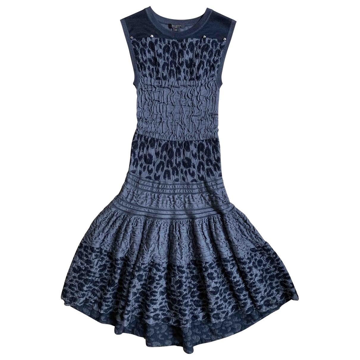 Louis Vuitton - Robe   pour femme en soie - gris