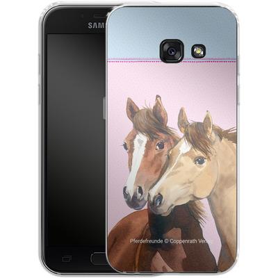 Samsung Galaxy A3 (2017) Silikon Handyhuelle - Pferdefreunde Rosa von Pferdefreunde