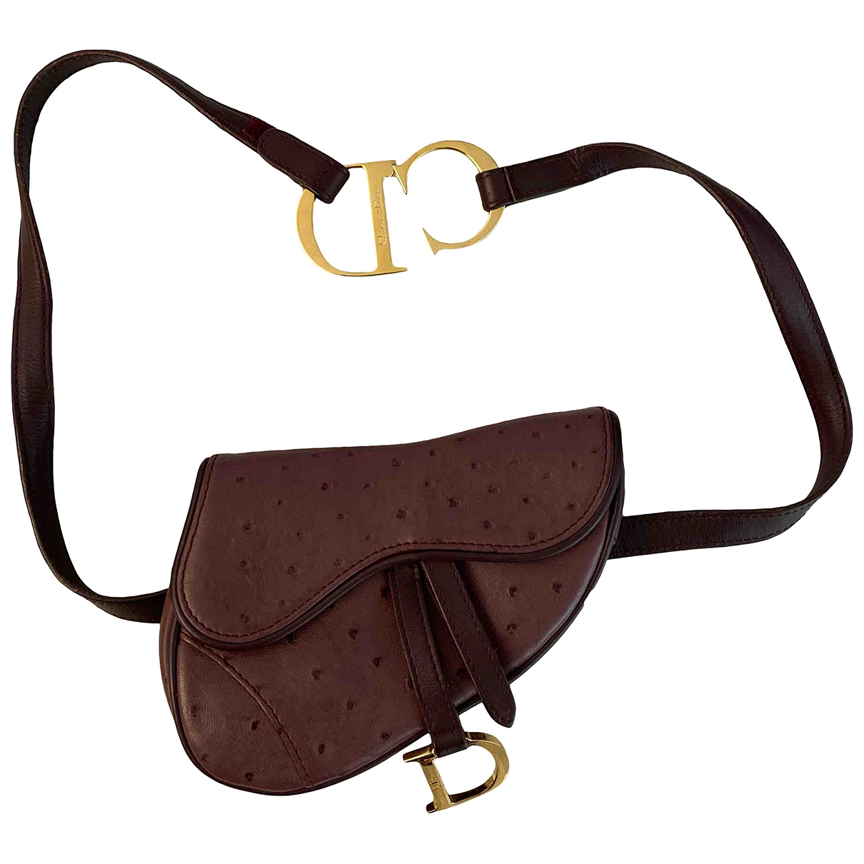 Dior Saddle Purple Leather handbag for Women \N