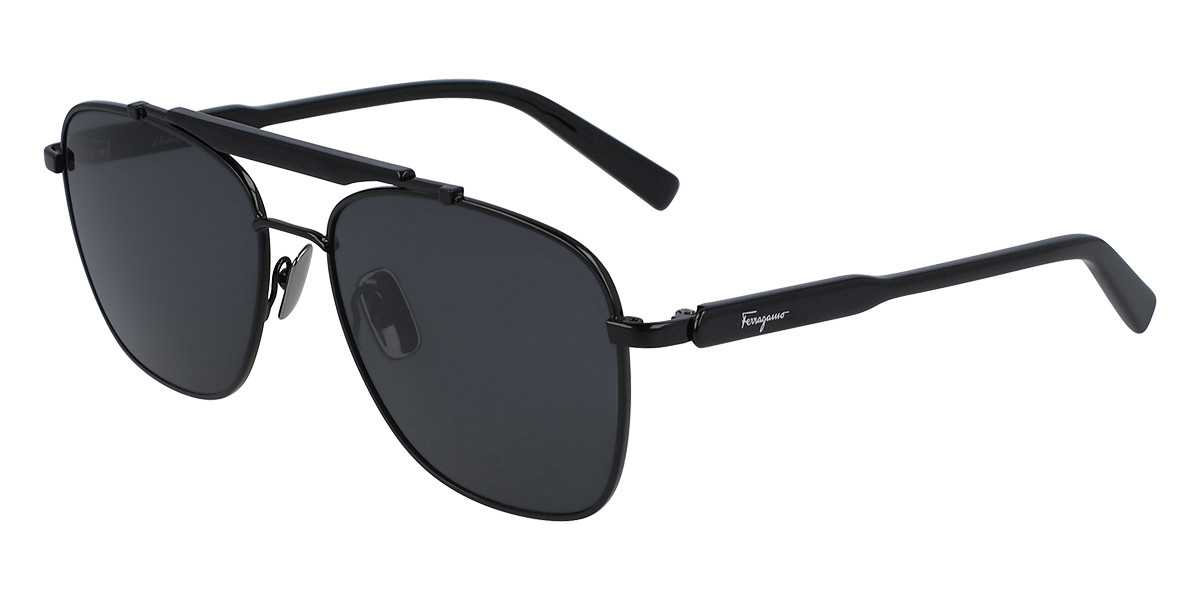Salvatore Ferragamo SF 198S 001 Men's Sunglasses Black Size 56