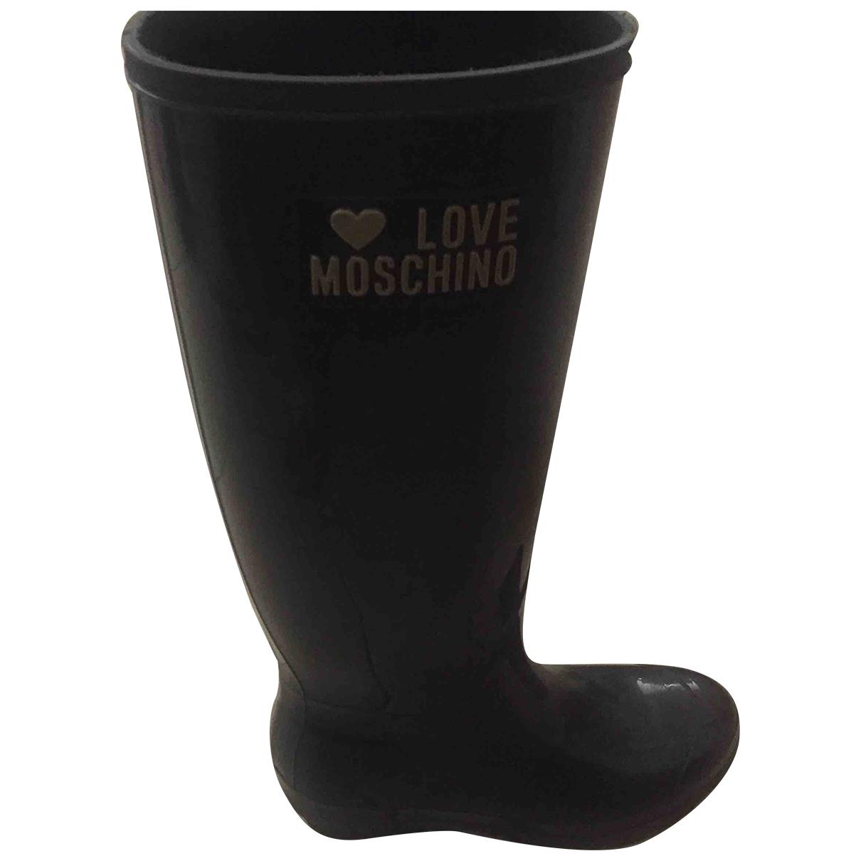 Moschino Love \N Brown Rubber Boots for Women 37 EU
