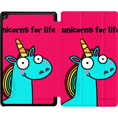 Amazon Fire HD 8 (2017) Tablet Smart Case - Unicorns for Life von Flossy and Jim