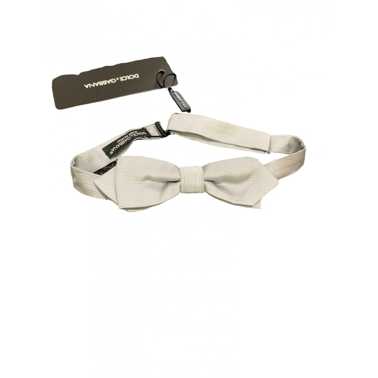 Dolce & Gabbana \N Grey Silk Ties for Men \N
