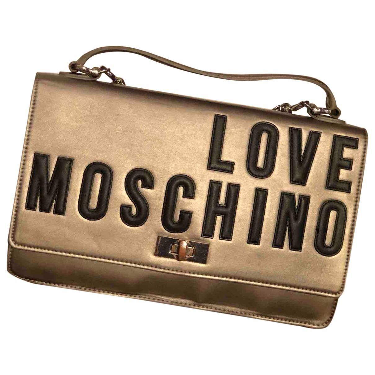 Moschino Love \N Handtasche in  Grau Kunststoff