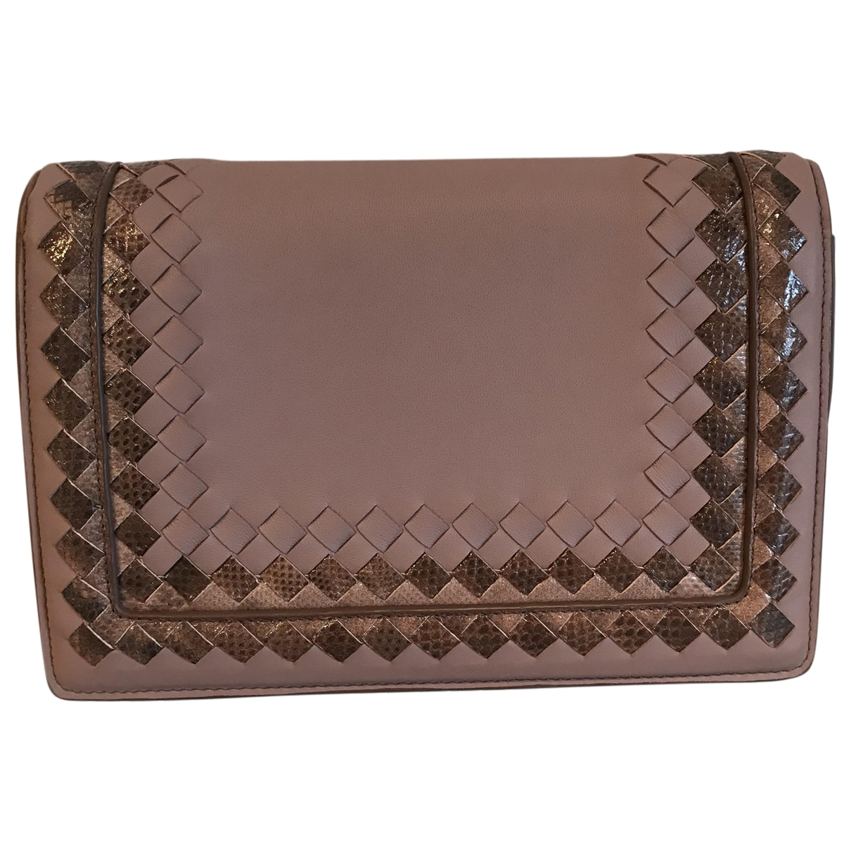 Bottega Veneta \N Pink Leather Clutch bag for Women \N