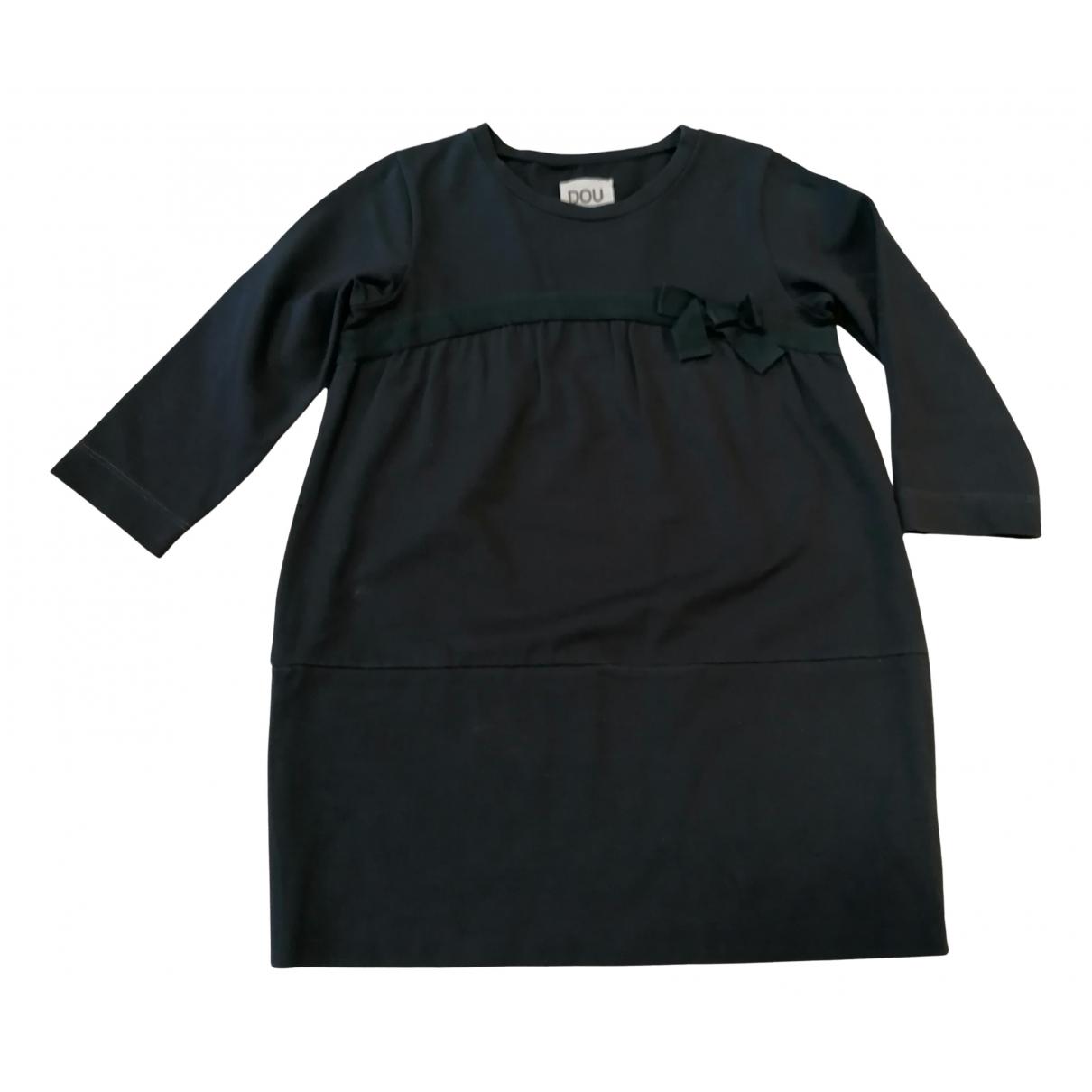 Douuod \N Kleid in  Anthrazit Baumwolle