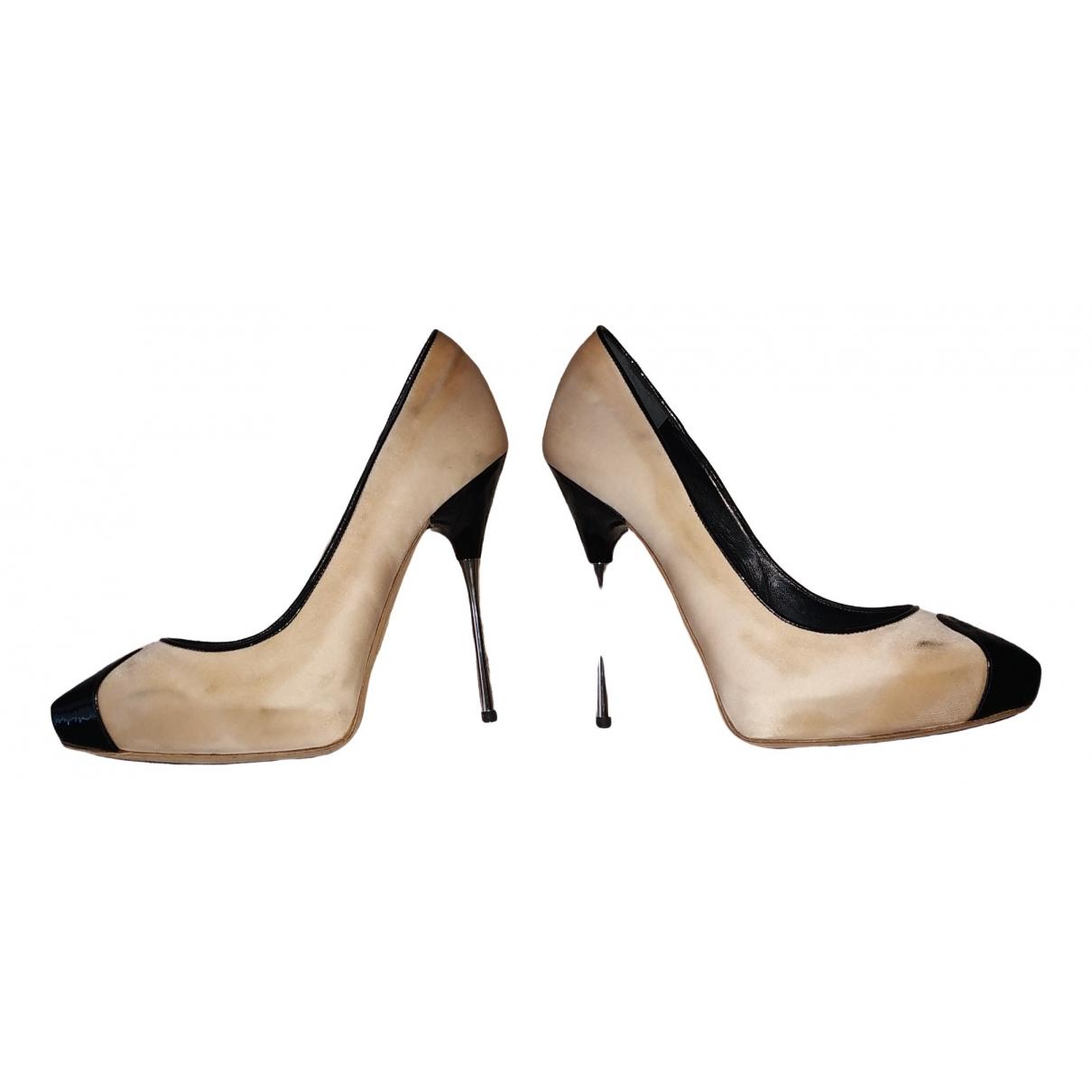 Dsquared2 \N Beige Cloth Heels for Women 36 EU