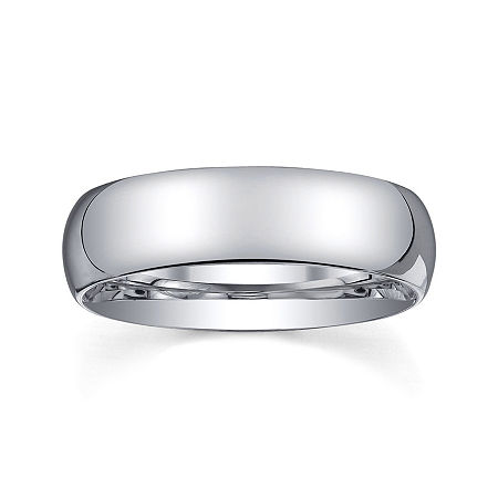 Personalized Mens 6mm Comfort Fit Domed Sterling Silver Wedding Band, 9 , No Color Family