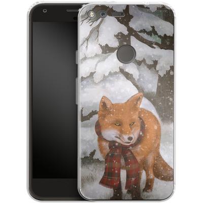Google Pixel XL Silikon Handyhuelle - Winter Fox von Terry Fan
