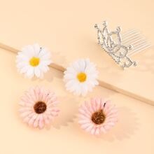 5 Stuecke Kleinkind Maedchen Haarzubehor mit Blumen Dekor
