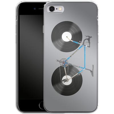 Apple iPhone 6 Silikon Handyhuelle - Retro Bike von Mark Ashkenazi
