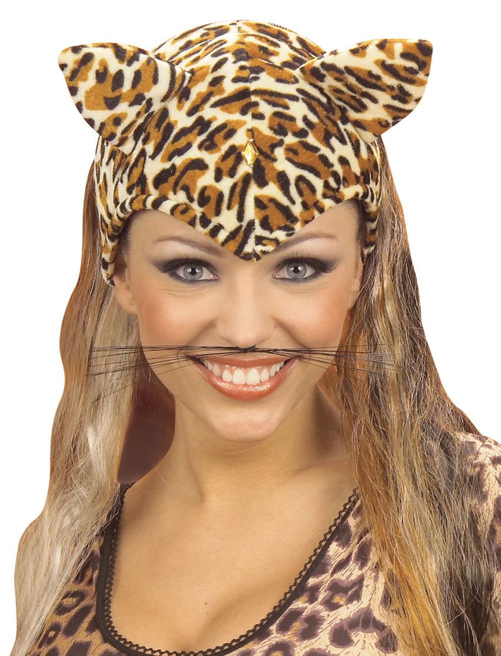 Kostuemzubehor Schnurrhaare Katzen Farbe: braun