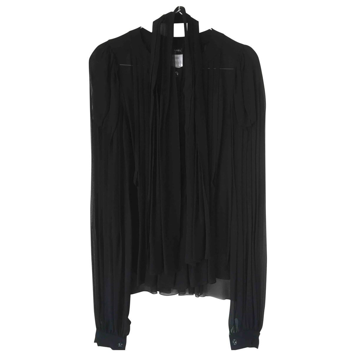 Chanel - Top   pour femme en soie - noir