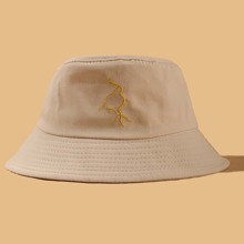 Lightning Embroidered Bucket Hat