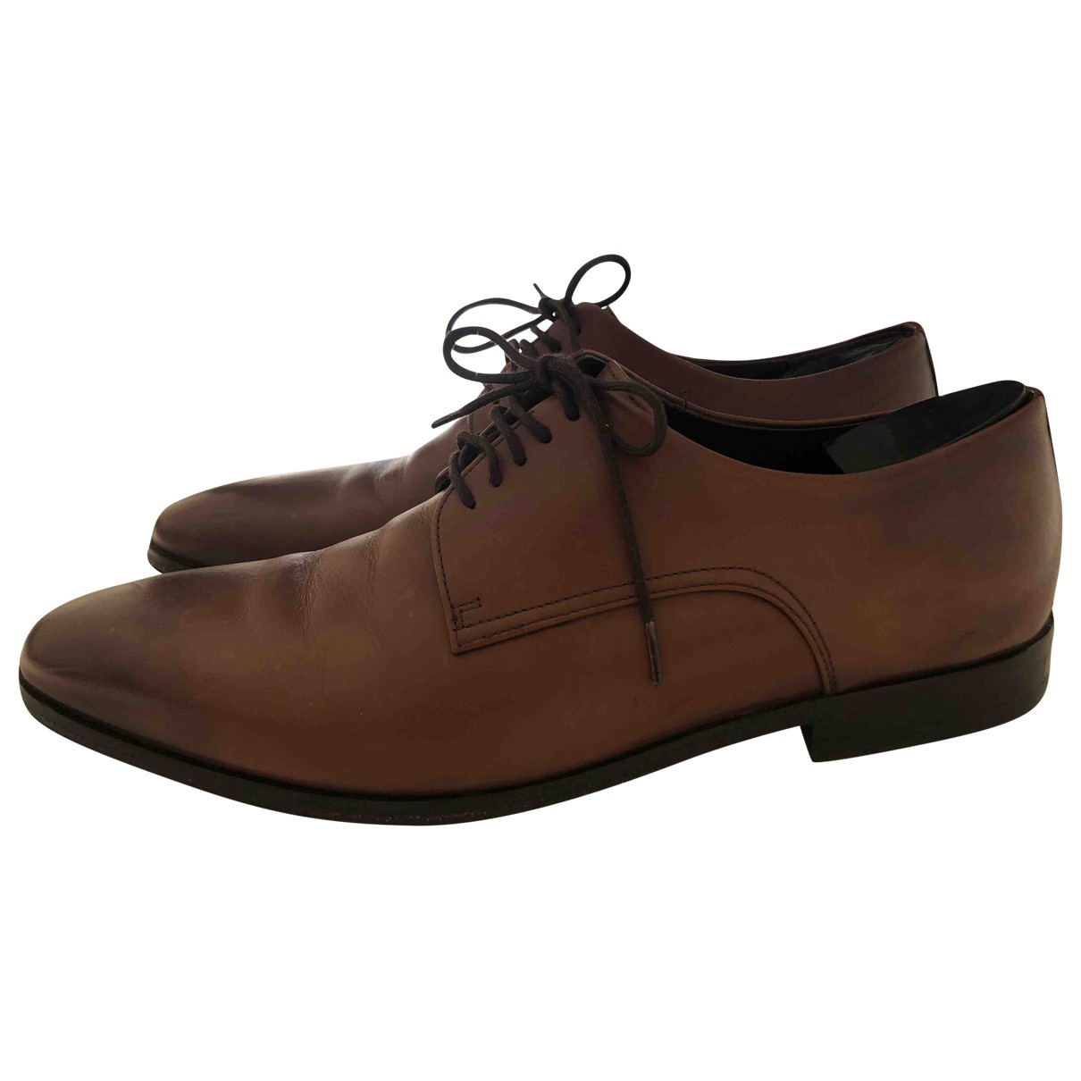 Boss \N Brown Leather Flats for Men 8.5 UK