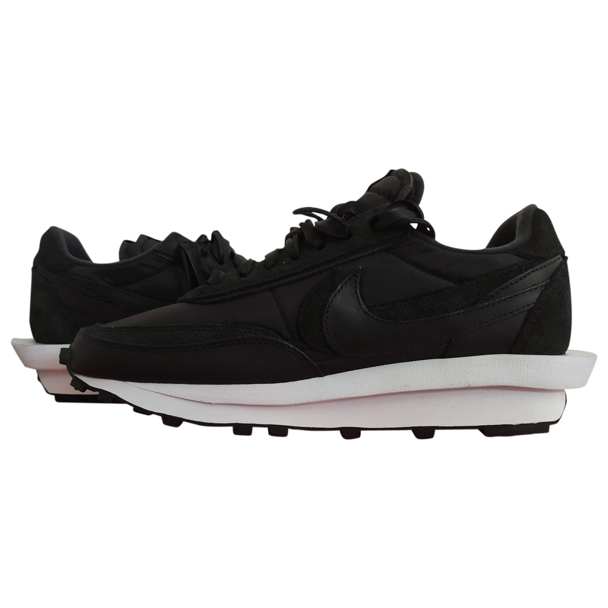 Nike X Sacaï LDV Waffle Black Cloth Trainers for Men 44 EU