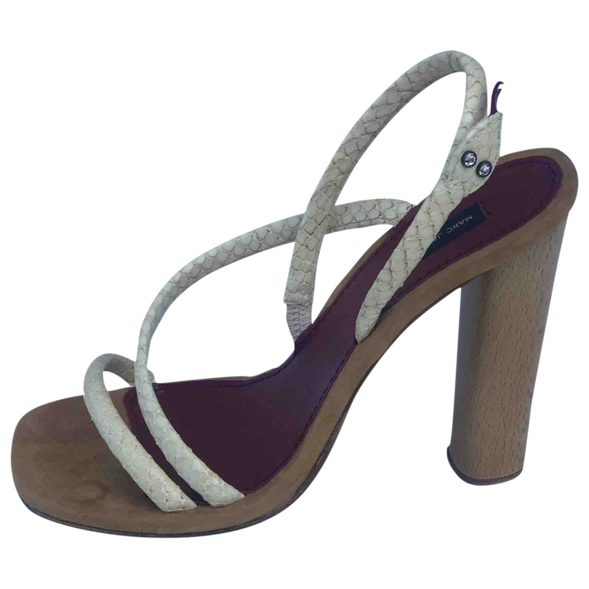 Marc Jacobs \N Ecru Water snake Sandals for Women 36.5 EU