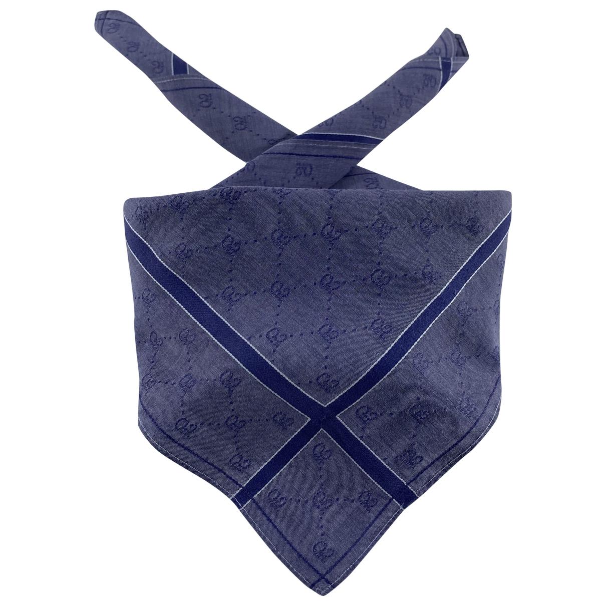 Gucci \N Blue Cotton scarf for Women \N
