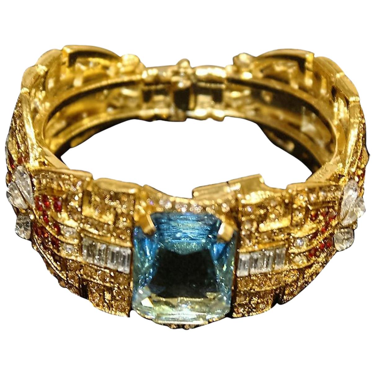 Carlo Zini \N Armband in  Metallic Metall