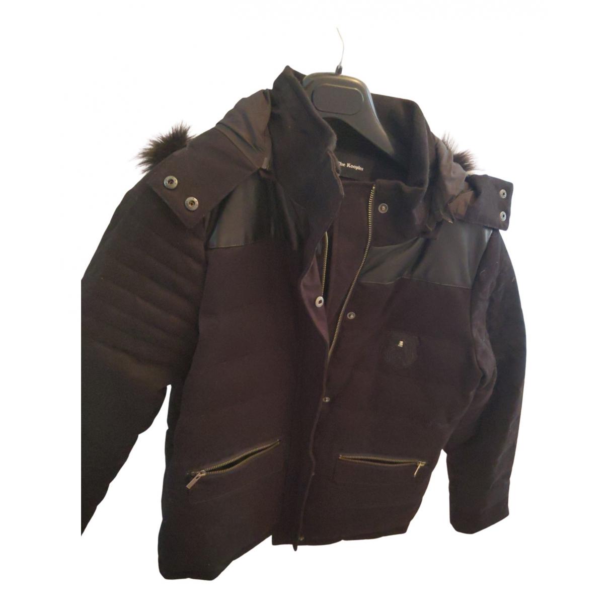 The Kooples - Manteau   pour femme en coton - noir