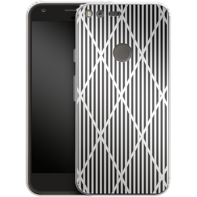 Google Pixel Silikon Handyhuelle - Black Diamonds von caseable Designs