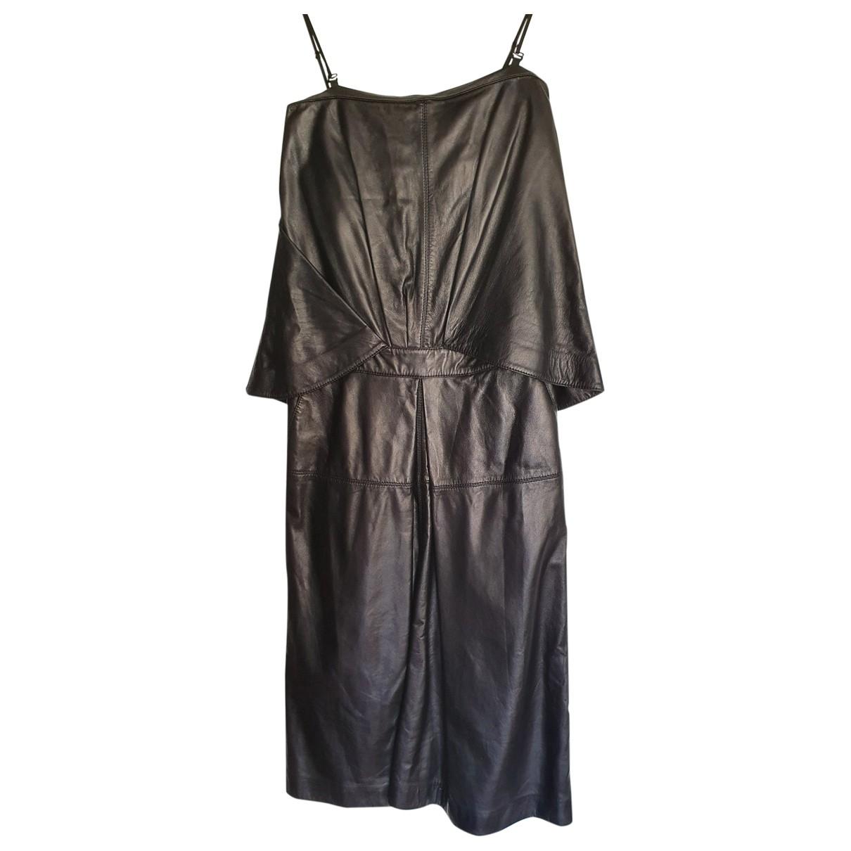 Mcq \N Black Leather dress for Women 36 FR