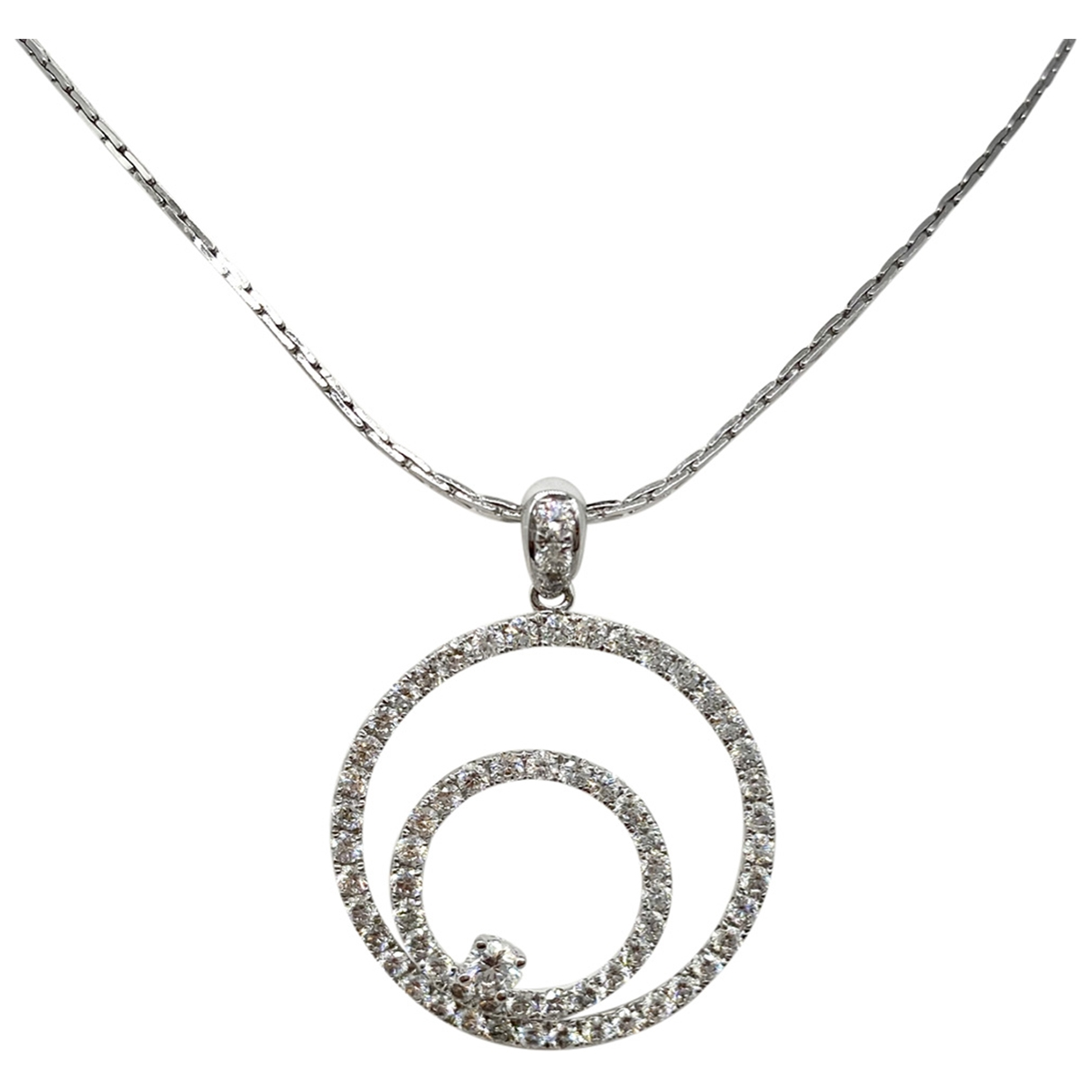 Non Signé / Unsigned \N Silver Metal pendant for Women \N