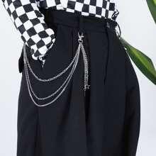 Cadena de pantalones a capas con diseño de estrella
