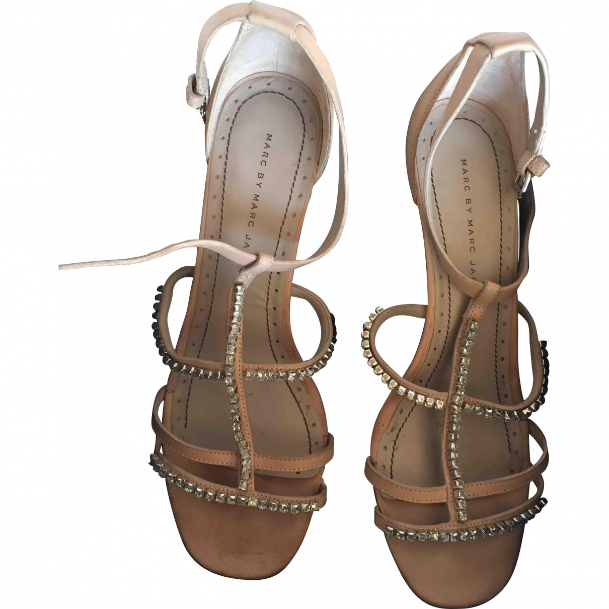 Marc By Marc Jacobs \N Beige Leather Sandals for Women 39 EU