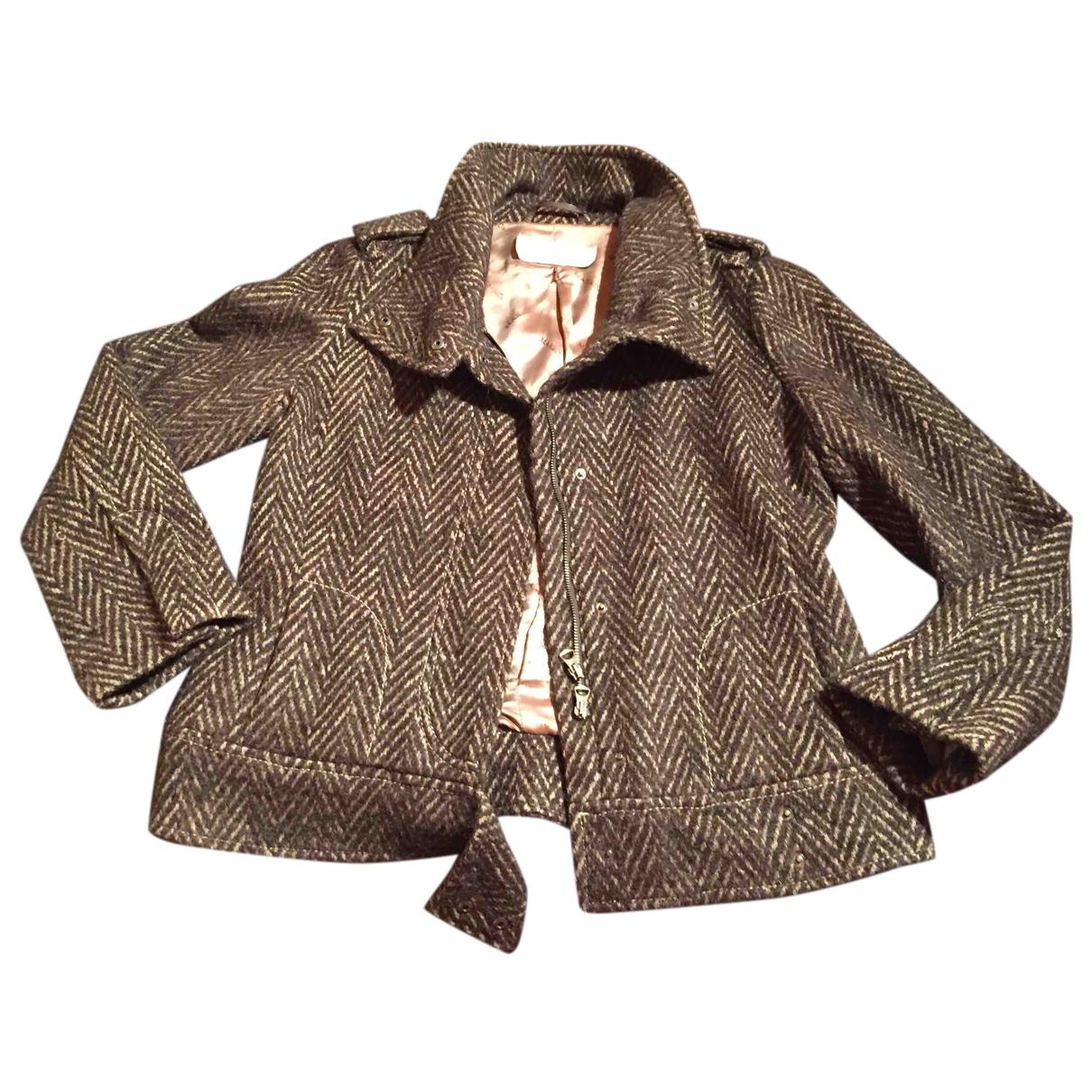 Intrend - Manteau   pour femme en laine - marron