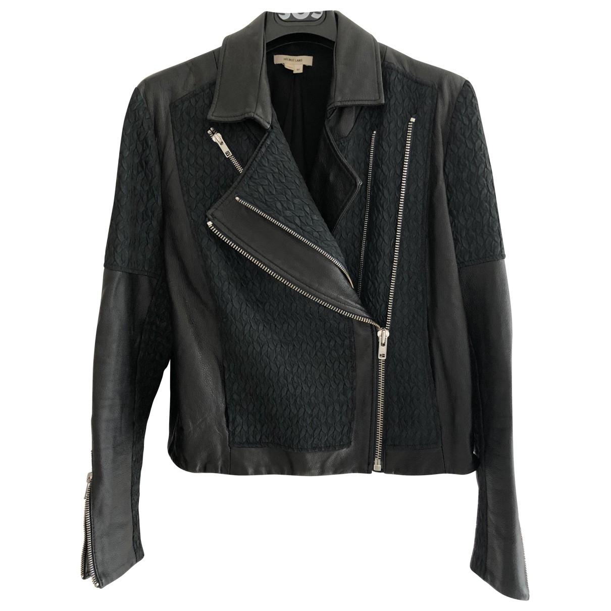 Helmut Lang \N Black Leather Leather jacket for Women M International