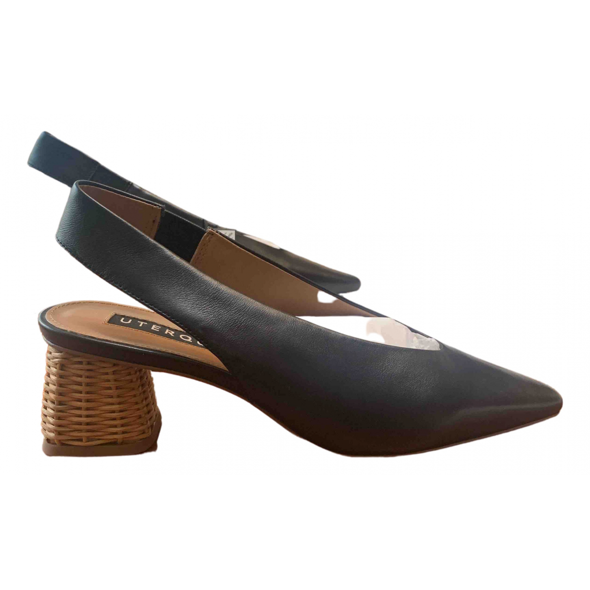 Uterque \N Black Leather Heels for Women 41 EU