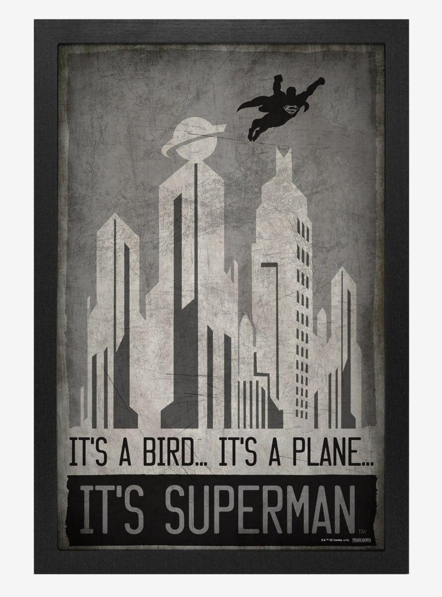 DC Comics Superman Its A Bird Poster